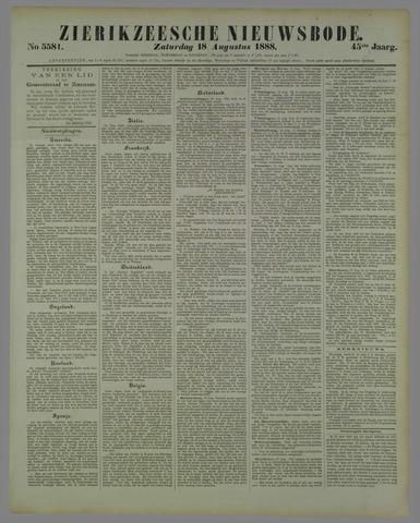 Zierikzeesche Nieuwsbode 1888-08-18
