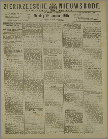 Zierikzeesche Nieuwsbode 1915-01-29