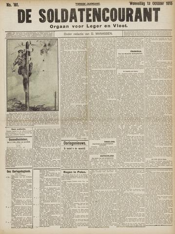 De Soldatencourant. Orgaan voor Leger en Vloot 1915-10-13