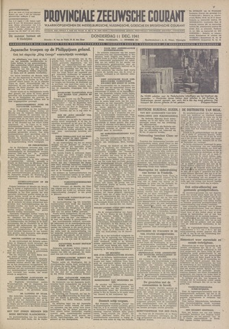 Provinciale Zeeuwse Courant 1941-12-11