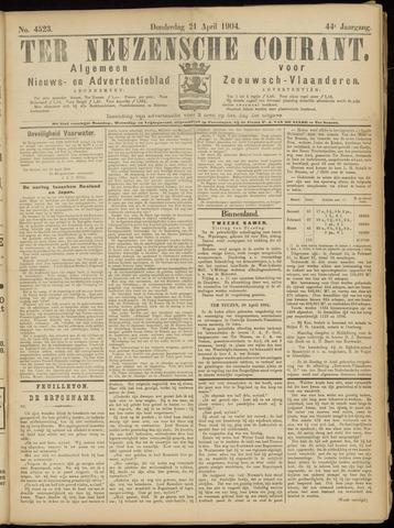 Ter Neuzensche Courant. Algemeen Nieuws- en Advertentieblad voor Zeeuwsch-Vlaanderen / Neuzensche Courant ... (idem) / (Algemeen) nieuws en advertentieblad voor Zeeuwsch-Vlaanderen 1904-04-21