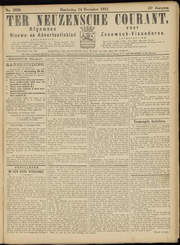Ter Neuzensche Courant. Algemeen Nieuws- en Advertentieblad voor Zeeuwsch-Vlaanderen / Neuzensche Courant ... (idem) / (Algemeen) nieuws en advertentieblad voor Zeeuwsch-Vlaanderen 1911-12-14