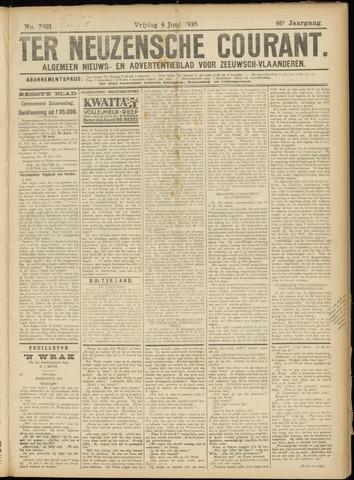 Ter Neuzensche Courant. Algemeen Nieuws- en Advertentieblad voor Zeeuwsch-Vlaanderen / Neuzensche Courant ... (idem) / (Algemeen) nieuws en advertentieblad voor Zeeuwsch-Vlaanderen 1926-06-04