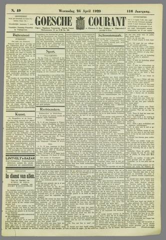 Goessche Courant 1929-04-24