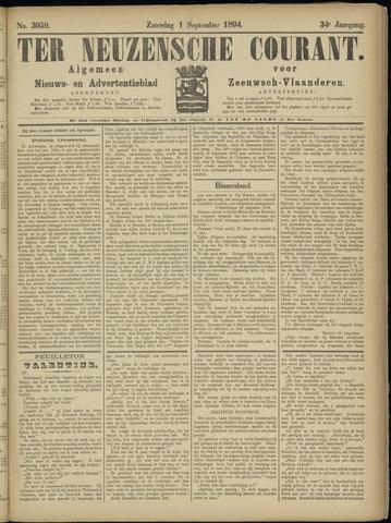 Ter Neuzensche Courant. Algemeen Nieuws- en Advertentieblad voor Zeeuwsch-Vlaanderen / Neuzensche Courant ... (idem) / (Algemeen) nieuws en advertentieblad voor Zeeuwsch-Vlaanderen 1894-09-01