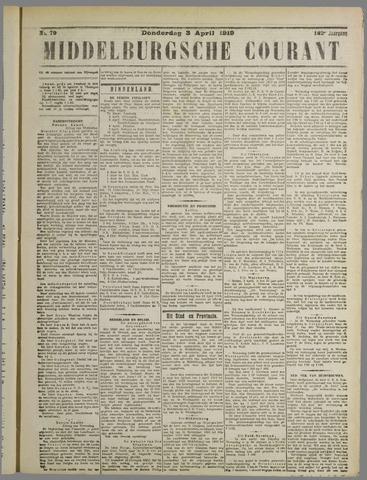 Middelburgsche Courant 1919-04-03