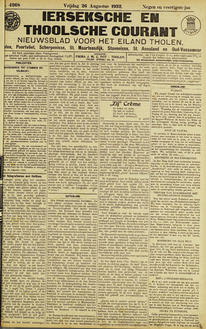 Ierseksche en Thoolsche Courant 1932-08-26