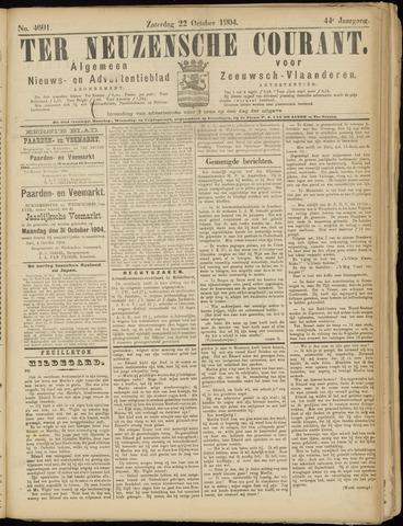 Ter Neuzensche Courant. Algemeen Nieuws- en Advertentieblad voor Zeeuwsch-Vlaanderen / Neuzensche Courant ... (idem) / (Algemeen) nieuws en advertentieblad voor Zeeuwsch-Vlaanderen 1904-10-22