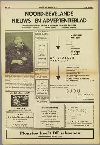 Noord-Bevelands Nieuws- en advertentieblad 1957-08-31