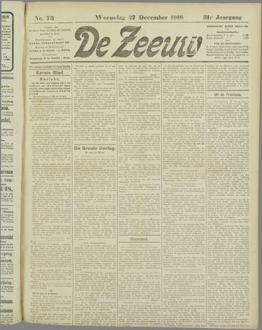 De Zeeuw. Christelijk-historisch nieuwsblad voor Zeeland 1916-12-27