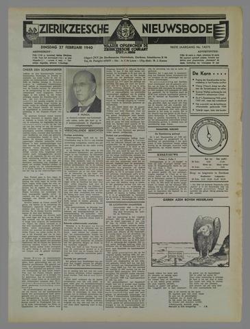 Zierikzeesche Nieuwsbode 1940-02-27