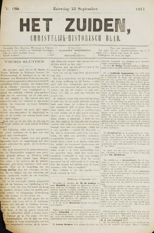 Het Zuiden, Christelijk-historisch blad 1877-09-22