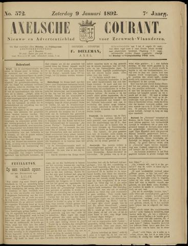 Axelsche Courant 1892-01-09