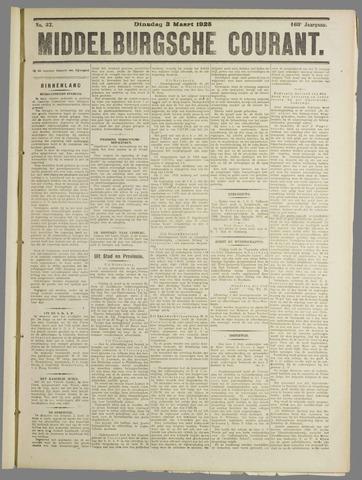 Middelburgsche Courant 1925-03-03