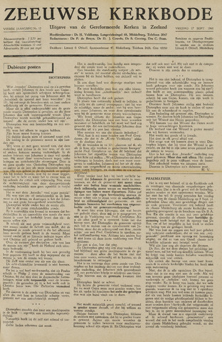 Zeeuwsche kerkbode, weekblad gewijd aan de belangen der gereformeerde kerken/ Zeeuwsch kerkblad 1948-09-17