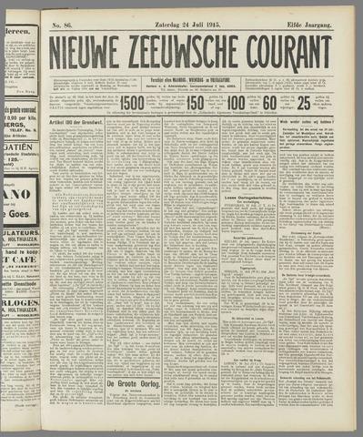 Nieuwe Zeeuwsche Courant 1915-07-24