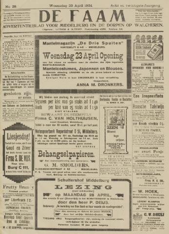 de Faam en de Faam/de Vlissinger 1924-04-23