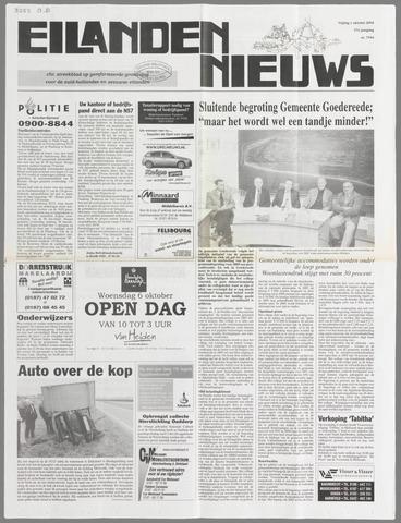 Eilanden-nieuws. Christelijk streekblad op gereformeerde grondslag 2004-10-01
