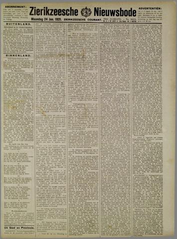 Zierikzeesche Nieuwsbode 1921-01-24
