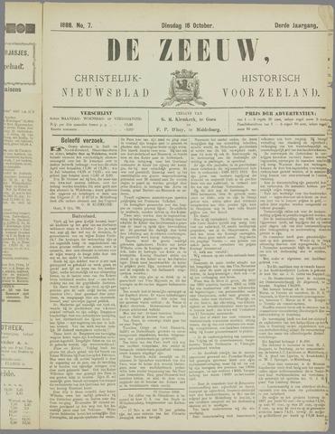 De Zeeuw. Christelijk-historisch nieuwsblad voor Zeeland 1888-10-16