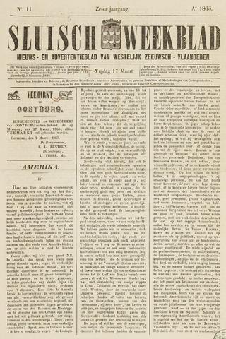 Sluisch Weekblad. Nieuws- en advertentieblad voor Westelijk Zeeuwsch-Vlaanderen 1865-03-17