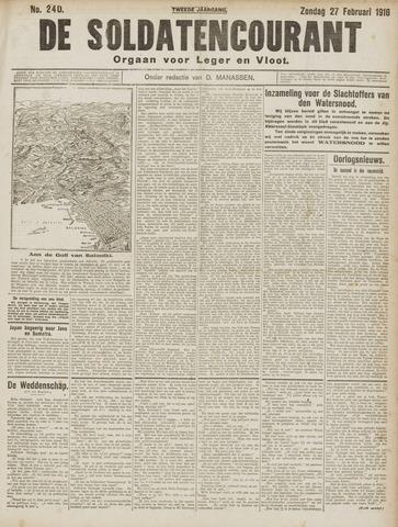 De Soldatencourant. Orgaan voor Leger en Vloot 1916-02-27