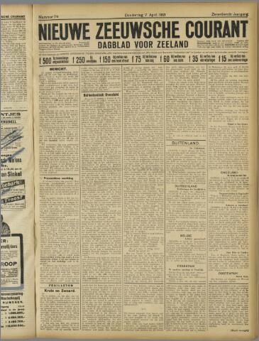 Nieuwe Zeeuwsche Courant 1921-04-07