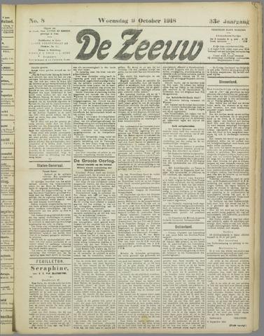 De Zeeuw. Christelijk-historisch nieuwsblad voor Zeeland 1918-10-09