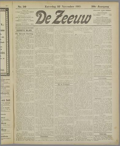 De Zeeuw. Christelijk-historisch nieuwsblad voor Zeeland 1915-11-27