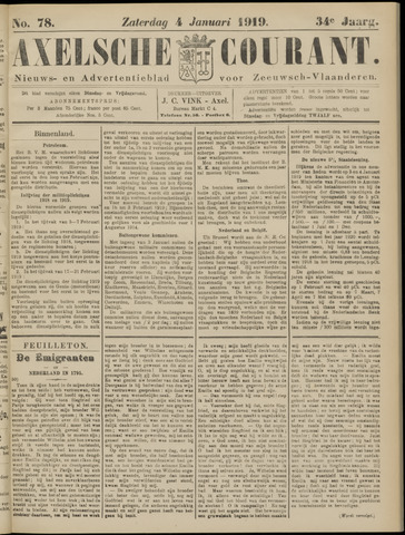 Axelsche Courant 1919-01-04