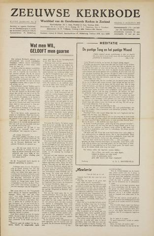 Zeeuwsche kerkbode, weekblad gewijd aan de belangen der gereformeerde kerken/ Zeeuwsch kerkblad 1955-08-05
