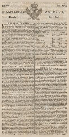 Middelburgsche Courant 1763-06-07