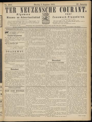 Ter Neuzensche Courant. Algemeen Nieuws- en Advertentieblad voor Zeeuwsch-Vlaanderen / Neuzensche Courant ... (idem) / (Algemeen) nieuws en advertentieblad voor Zeeuwsch-Vlaanderen 1911-08-01