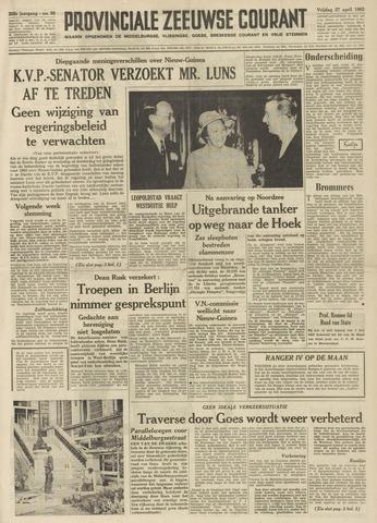 Provinciale Zeeuwse Courant 1962-04-27