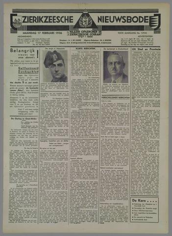 Zierikzeesche Nieuwsbode 1936-02-17