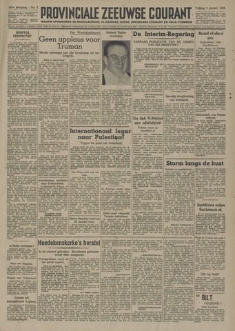 Provinciale Zeeuwse Courant 1948-01-09