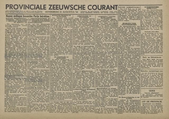 Provinciale Zeeuwse Courant 1944-08-31