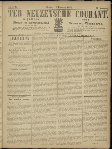 Ter Neuzensche Courant. Algemeen Nieuws- en Advertentieblad voor Zeeuwsch-Vlaanderen / Neuzensche Courant ... (idem) / (Algemeen) nieuws en advertentieblad voor Zeeuwsch-Vlaanderen 1895-02-19