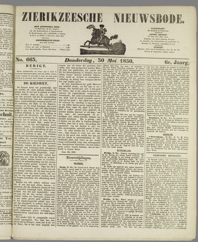 Zierikzeesche Nieuwsbode 1850-05-30