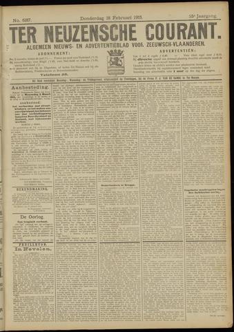 Ter Neuzensche Courant. Algemeen Nieuws- en Advertentieblad voor Zeeuwsch-Vlaanderen / Neuzensche Courant ... (idem) / (Algemeen) nieuws en advertentieblad voor Zeeuwsch-Vlaanderen 1915-02-18