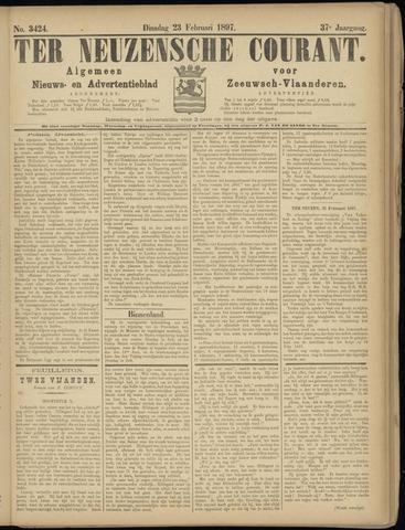 Ter Neuzensche Courant. Algemeen Nieuws- en Advertentieblad voor Zeeuwsch-Vlaanderen / Neuzensche Courant ... (idem) / (Algemeen) nieuws en advertentieblad voor Zeeuwsch-Vlaanderen 1897-02-23