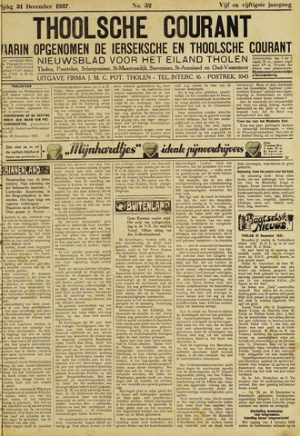 Ierseksche en Thoolsche Courant 1937-12-31