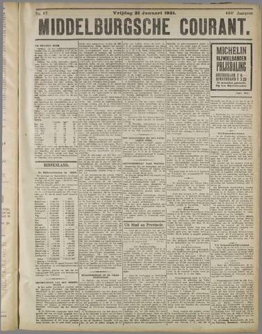 Middelburgsche Courant 1921-01-21