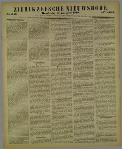 Zierikzeesche Nieuwsbode 1889-01-10