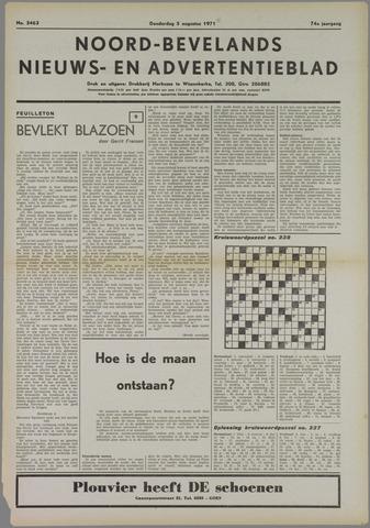 Noord-Bevelands Nieuws- en advertentieblad 1971-08-05