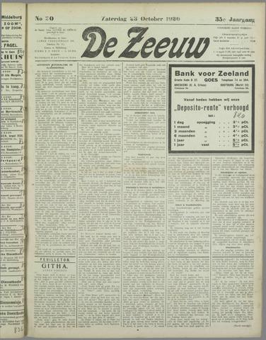 De Zeeuw. Christelijk-historisch nieuwsblad voor Zeeland 1920-10-23