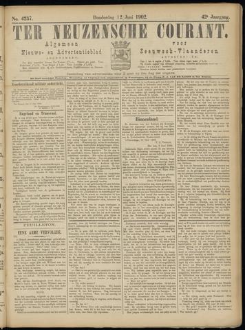 Ter Neuzensche Courant. Algemeen Nieuws- en Advertentieblad voor Zeeuwsch-Vlaanderen / Neuzensche Courant ... (idem) / (Algemeen) nieuws en advertentieblad voor Zeeuwsch-Vlaanderen 1902-06-12