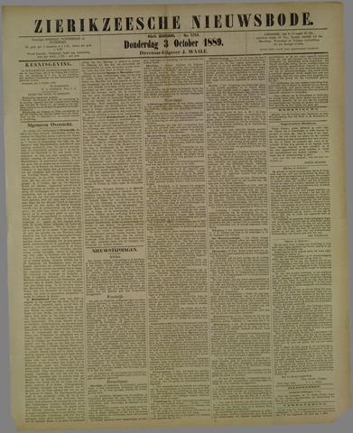Zierikzeesche Nieuwsbode 1889-10-03