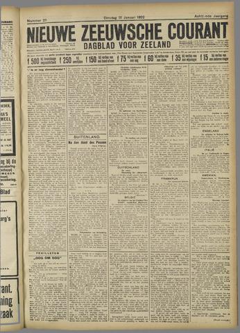 Nieuwe Zeeuwsche Courant 1922-01-31