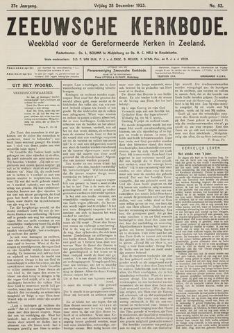 Zeeuwsche kerkbode, weekblad gewijd aan de belangen der gereformeerde kerken/ Zeeuwsch kerkblad 1923-12-28